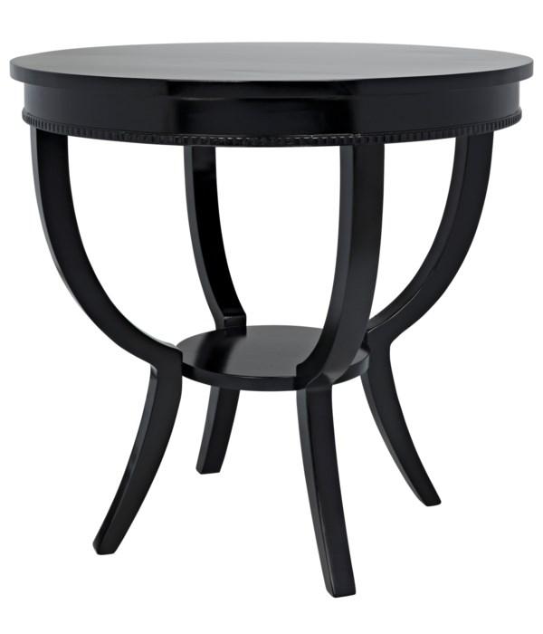 Scheffield Round End Table, Black