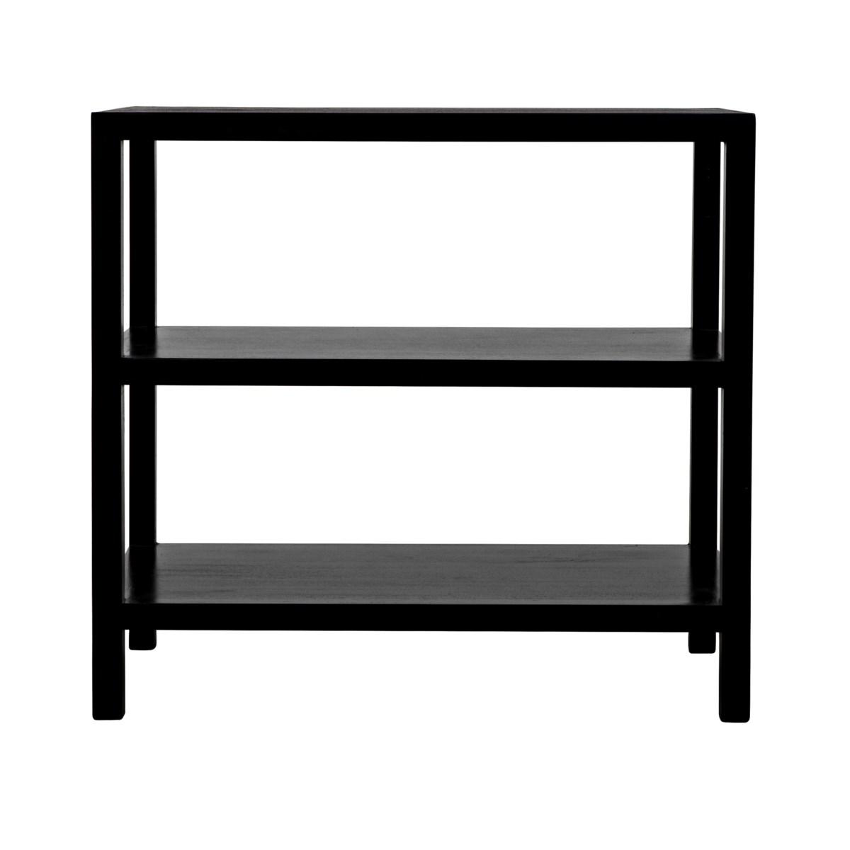 QS 2 Shelf Side Table, Hand Rubbed Black