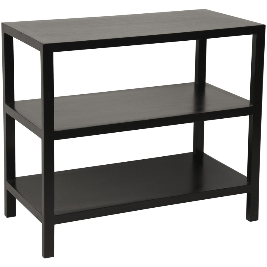 2 Shelf Side Table, Hand Rubbed Black