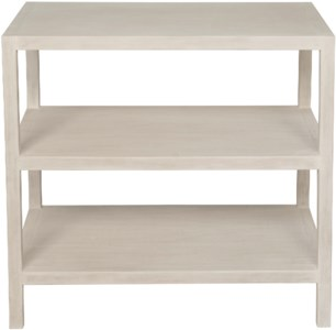 2 Shelf Side Table, White Wash