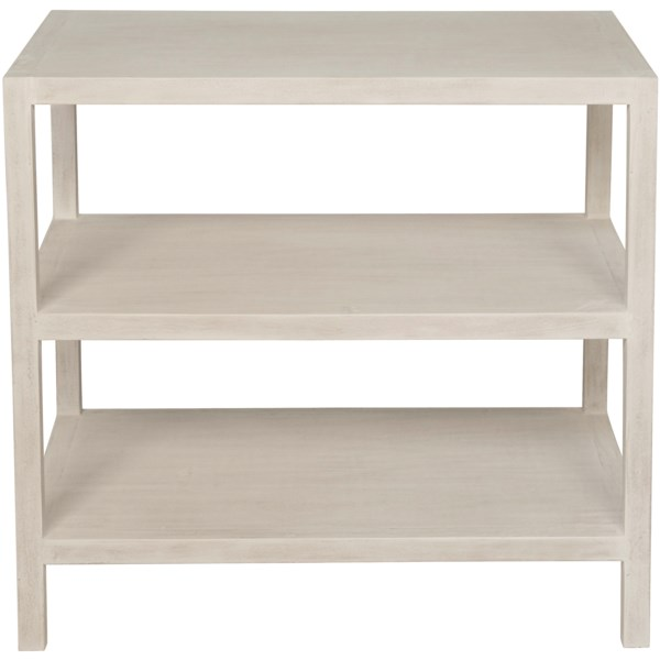 2 Shelf Side Table, White Wash