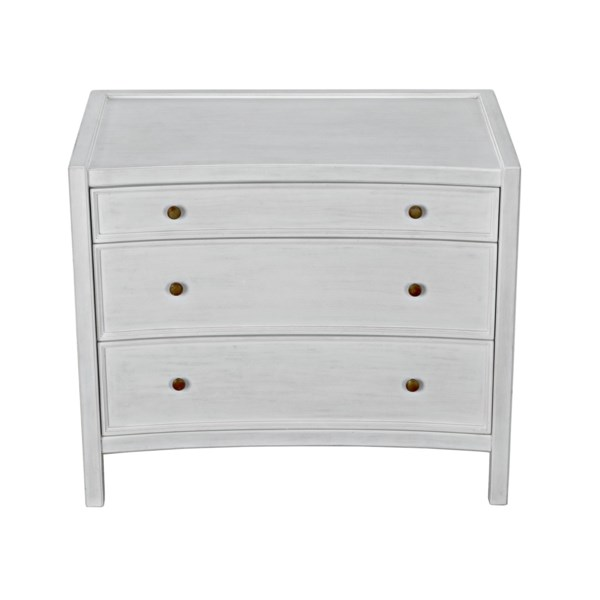 Hampton Side Table, White Wash