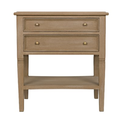 Oxford 2-Drawer Side Table, Weathered