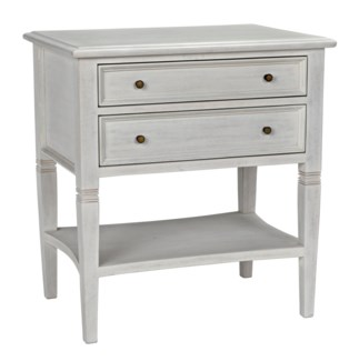 QS Oxford 2-Drawer Side Table, White Wash