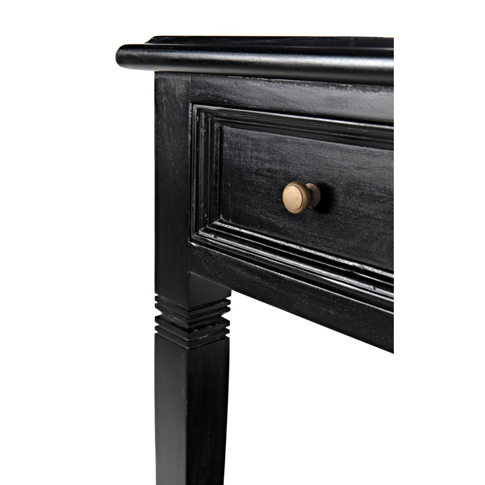 Oxford 1-Drawer Side Table, Hand Rubbed Black