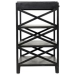 Sutton Criss-Cross Side Table, Hand Rubbed Black