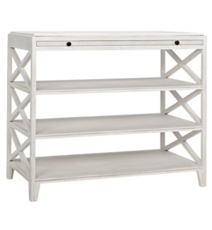 Sutton Criss Cross Side Table, White Wash