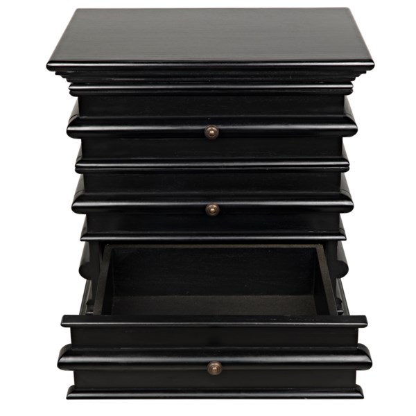 Ascona Side Table, Hand Rubbed Black