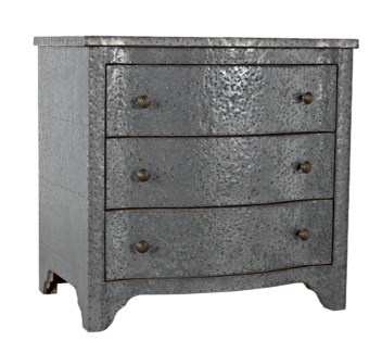 301 Metal Small Chest, Zinc