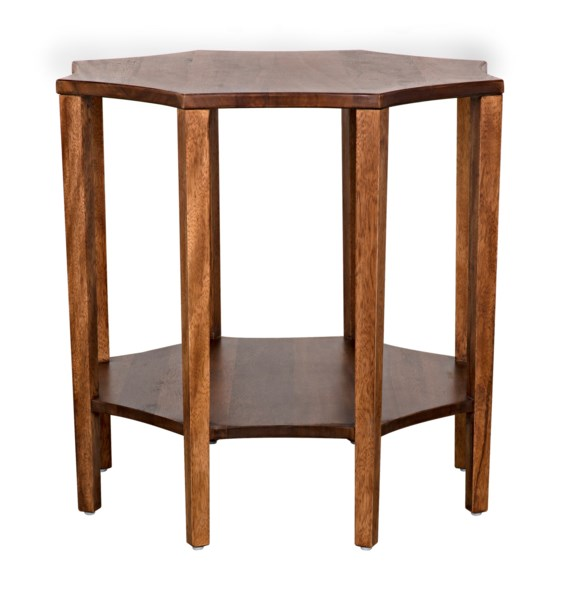 QS Ariana Side Table, Dark Walnut