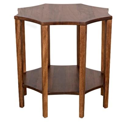 Ariana Side Table, Dark Walnut