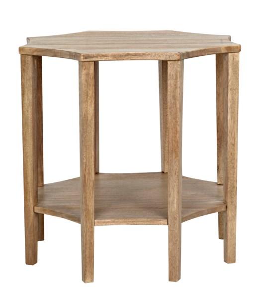 Ariana Side Table, Washed Walnut