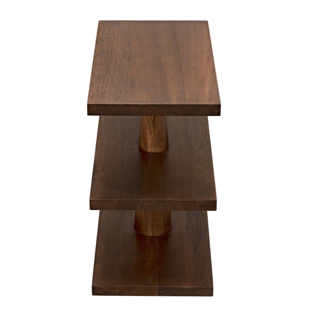 Fatima Side Table, Dark Walnut