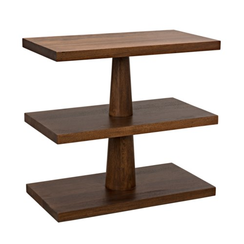 Fatima Side Table, Dark Walnut