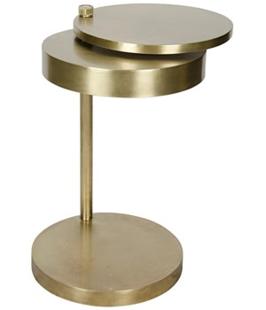 Ebba Side Table, Antique Brass