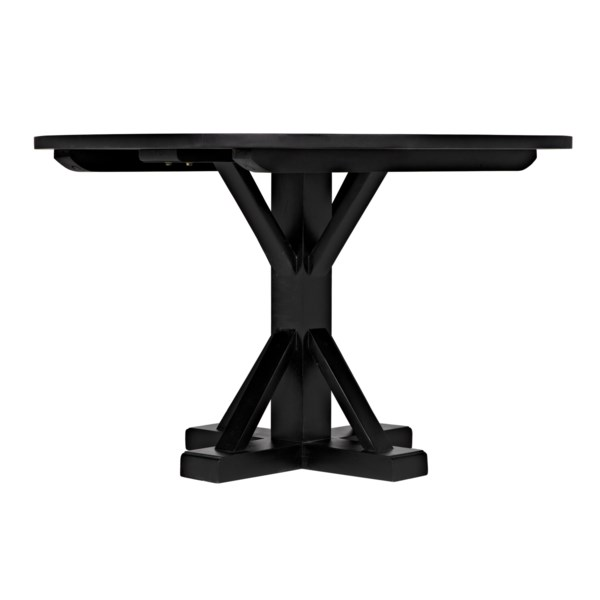 """Criss-Cross Round Table, 48"""", Hand Rubbed Black"""