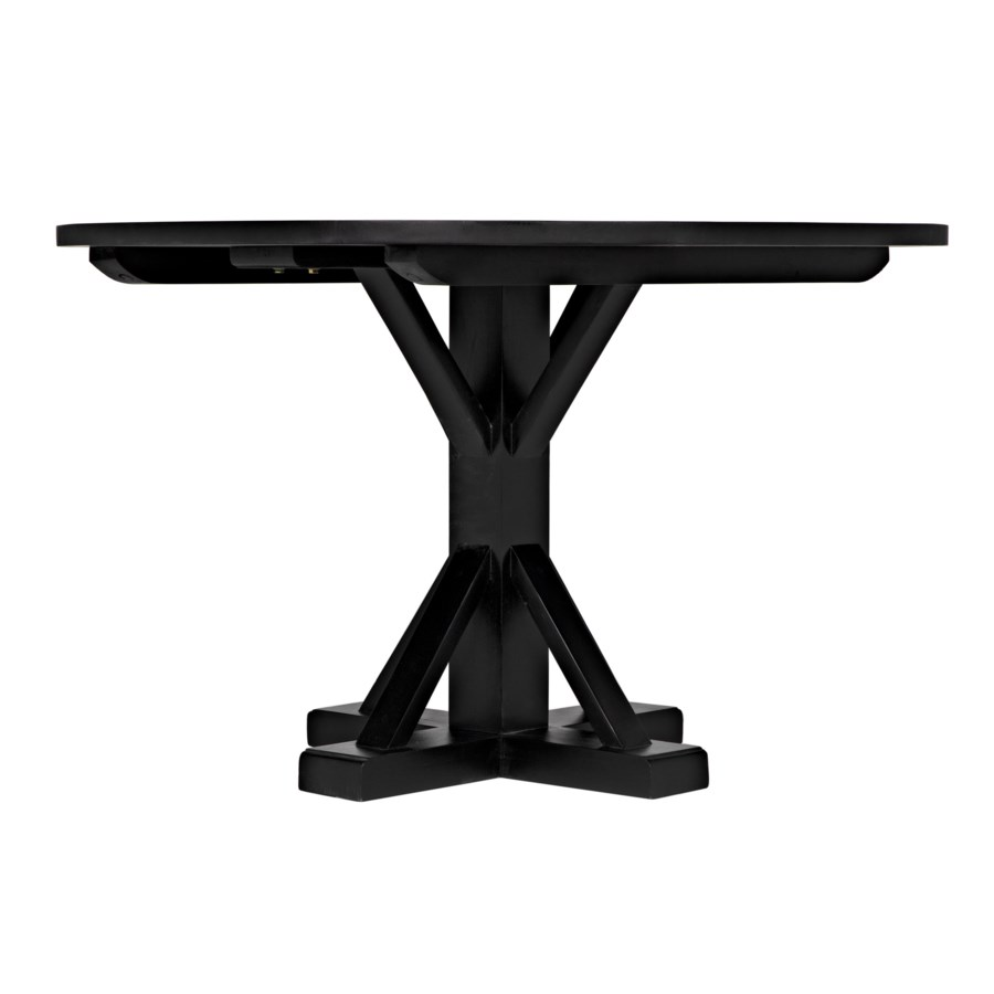 "Criss-Cross Round Table, 48"", Hand Rubbed Black"