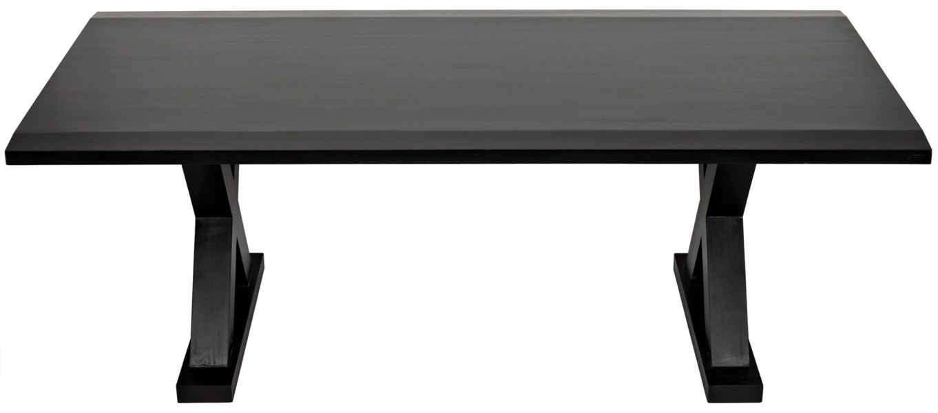 X Dining Table, Hand Rubbed Black