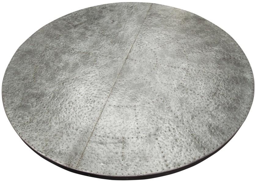 QS Zinc Top Table, Old Wood