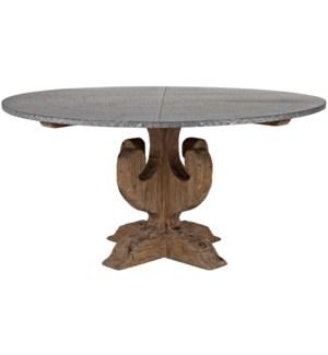 Curlin Dining Table, Zinc