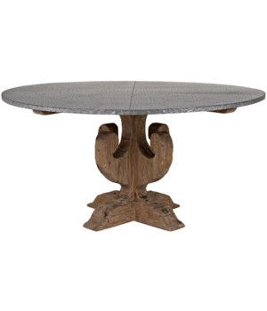 Curlin Dining Table, Zinc