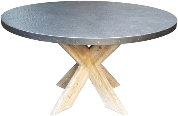 """Austin Table with Zinc Top, 54"""""""