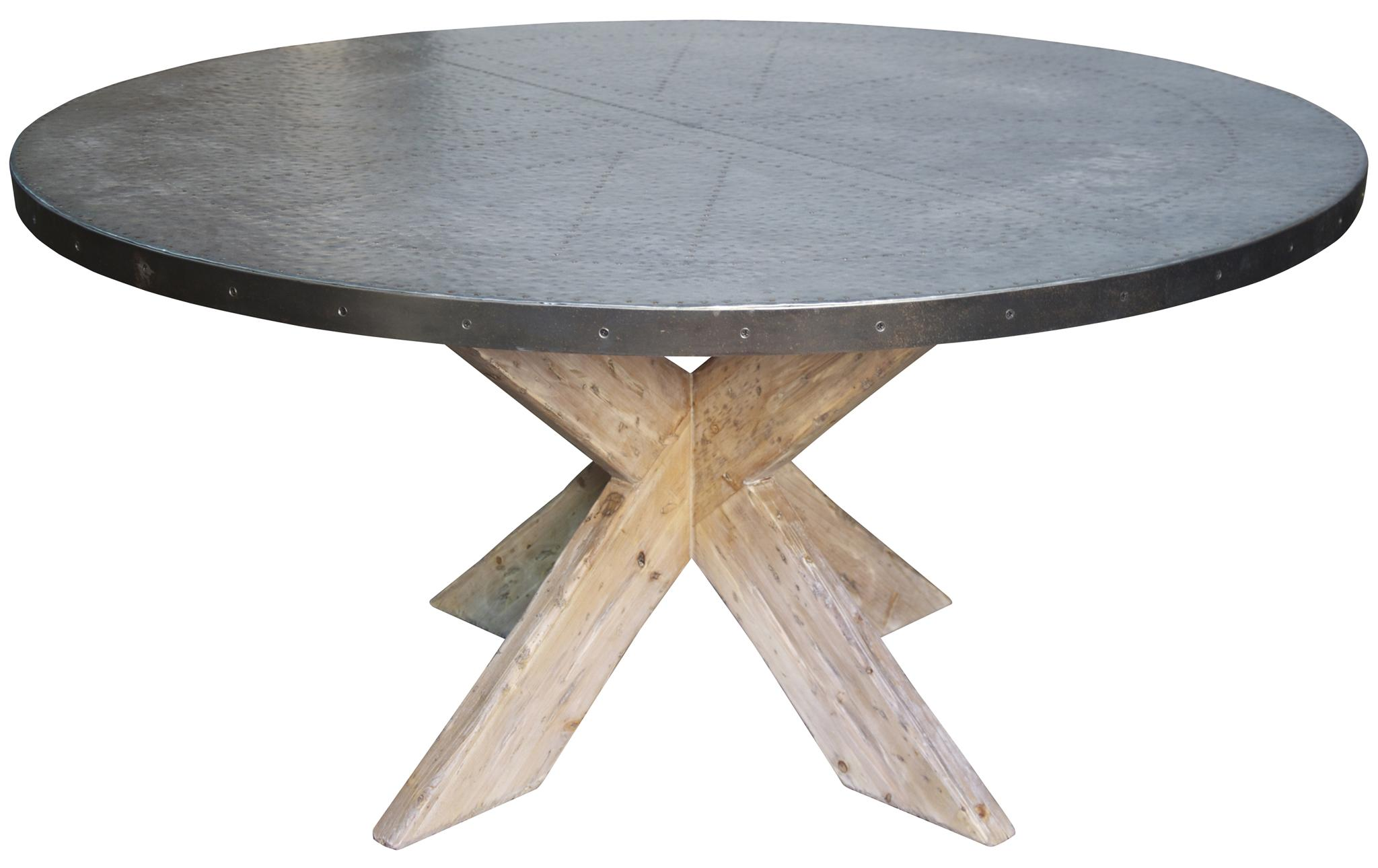 Austin Table With Zinc Top 60