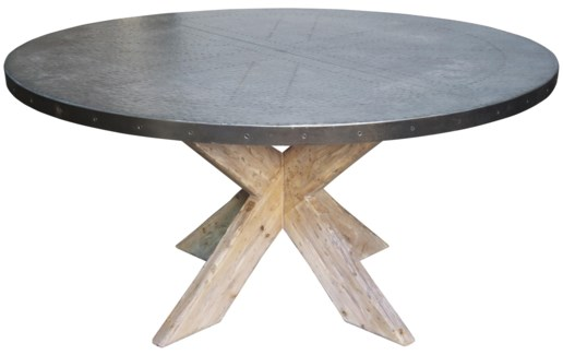 Austin Table with Zinc Top, 60""