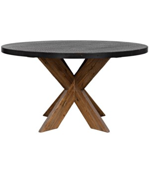 "54"" Austin Table with Zinc Top"