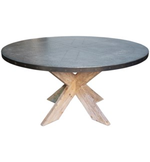 """60"""" Austin Table with Zinc Top"""