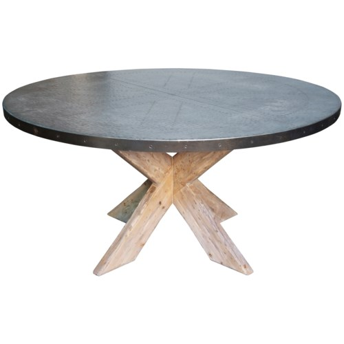 "60"" Austin Table with Zinc Top"