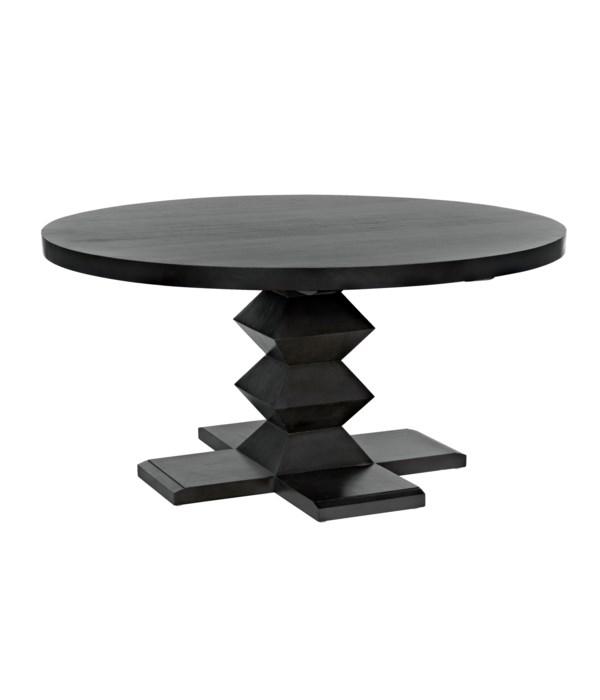 "Zig-Zag Dining Table, 60"" Diameter, Pale"