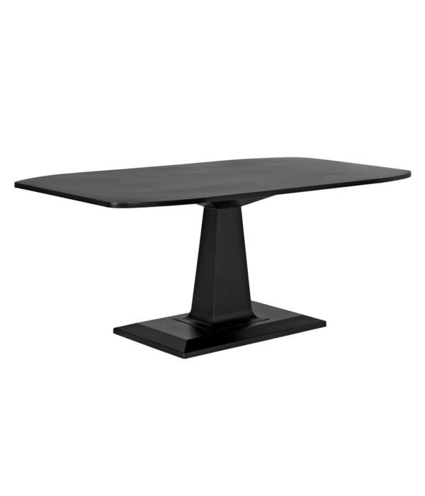Amboss Dining Table, Black Steel