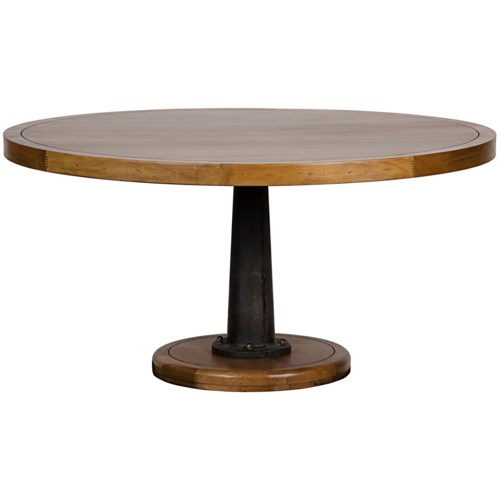 Yacht Dining Table with Cast Pedestal, 60""