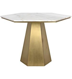 Demetria Table, Metal and Quartz