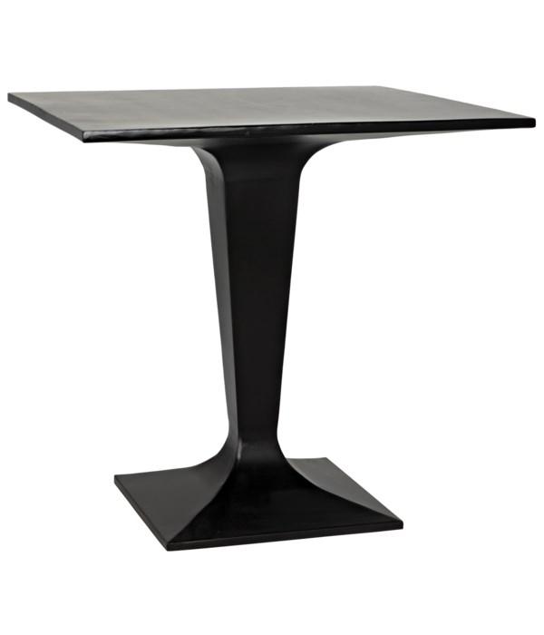 Anoil Bistro Table, Black Steel