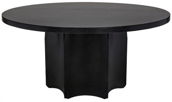Rome Dining Table, Black Metal