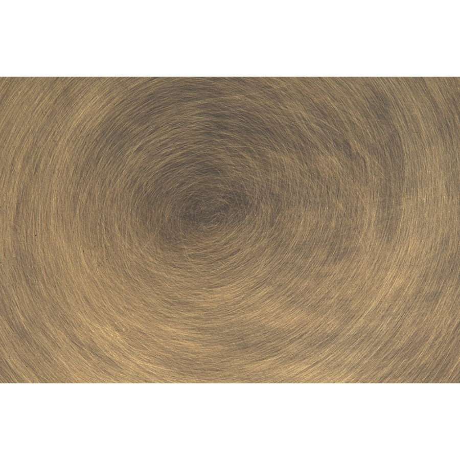 """Laredo Table 40"""", Aged Brass, White Marble Top"""