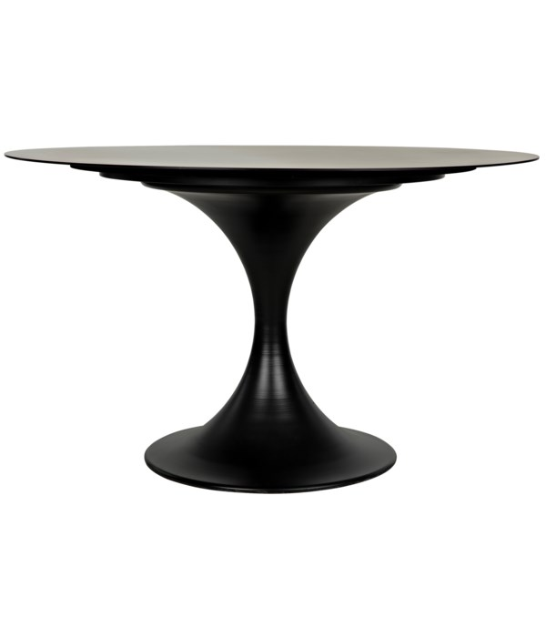 "Herno Table, 48"", Black Steel"