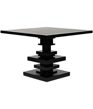 Corum Square Table, Hand Rubbed Black