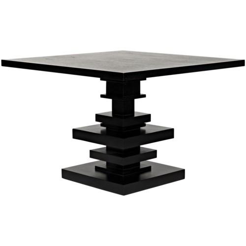 Corum Square Table, Hand Rubbed Black