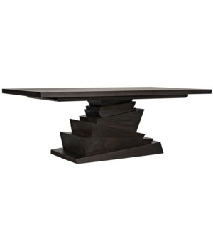 Musala Dining Table, Ebony Walnut