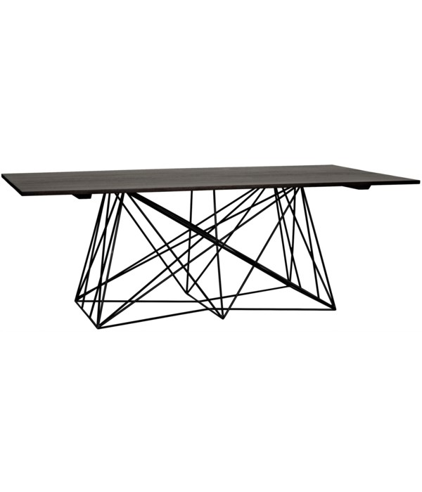 Karl Table with Steel Base, Ebony Walnut