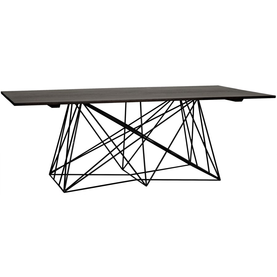 Karl Table w/Metal Base, Ebony Walnut