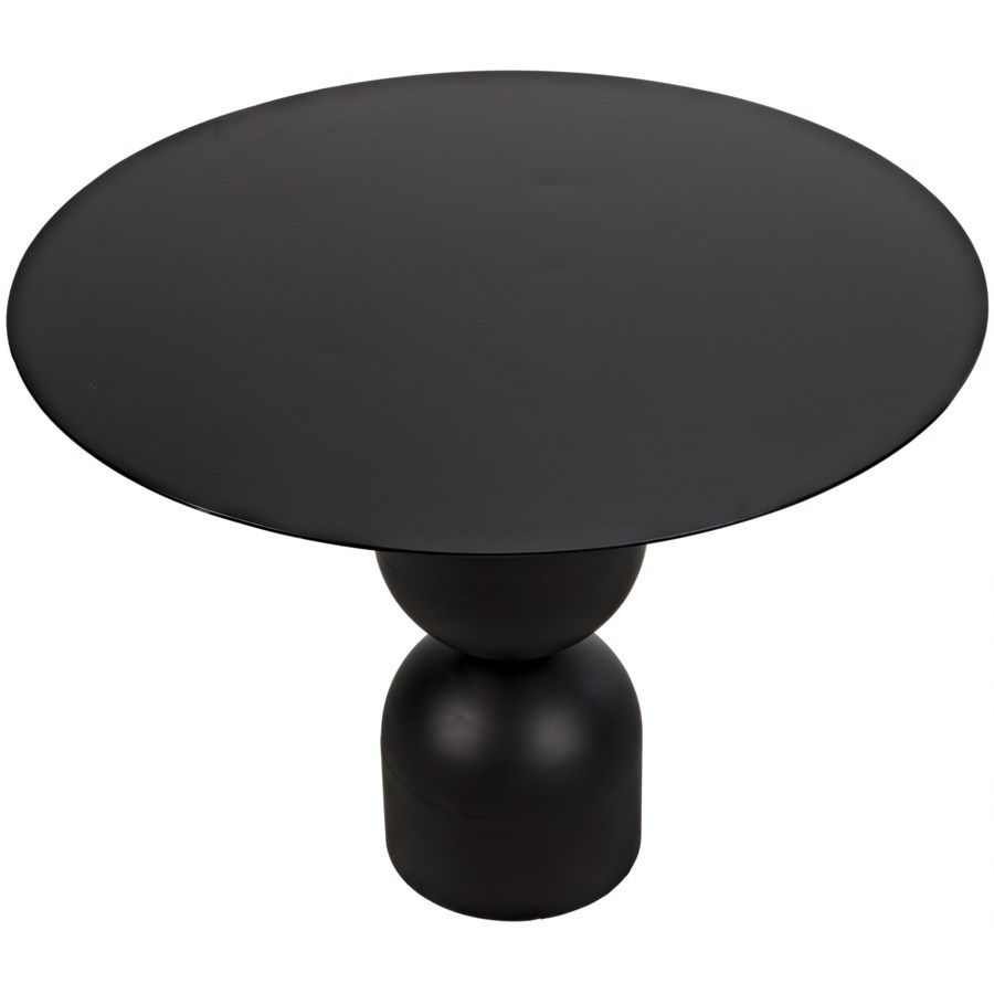 Wanda Dining Table, Black Metal
