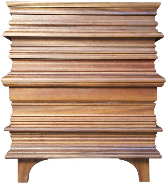 Bernard Side Table, Dark Walnut