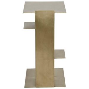 Karri Side Table, Antique Brass