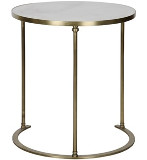 Molly Side Table, A, Steel and White Marble