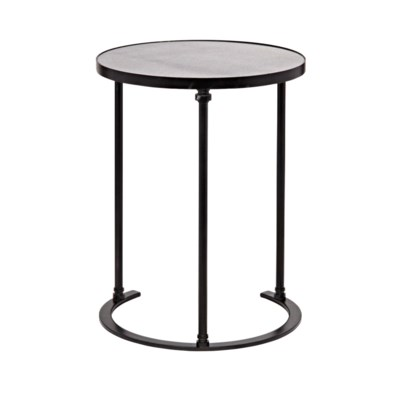 Molly Side Table, B, Metal and Stone