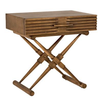 Zanta Side Table, Saddle Brown